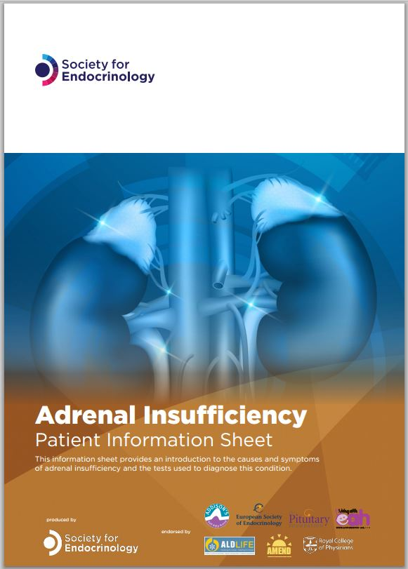 Adrenal insufficiency – patient information sheet