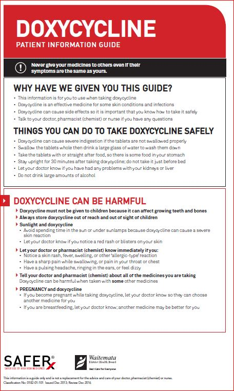 Doxycycline time to take effect