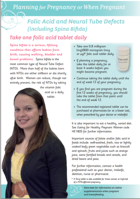 Folic Acid and Neural Tube Defects (including spina bifida)