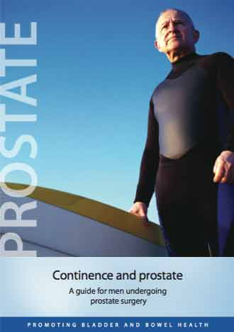 Continence & prostate: a guide for men undergoing prostate surgery