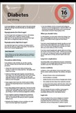 Diabetes & driving fact sheet 16