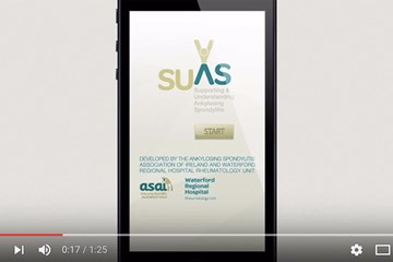 SUAS (ankylosing spondylitis) app – Preview video