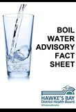 Boil water advisory fact sheet