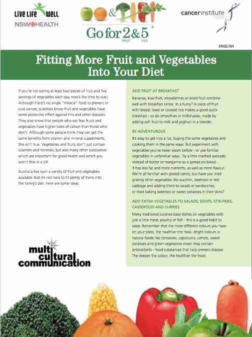 Fitting more fruit & vege into your diet