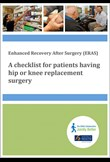 A checklist for patients having hip or knee replacement surgery
