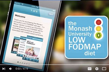 Low FODMAP diet app – preview video