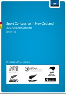 ACC National Guidelines for sport concussion in NZ