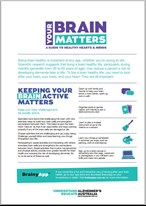 Image of factsheet - Your brain matters