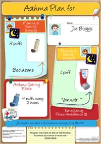 Asthma action plan – pictorial version