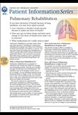 Pulmonary rehabilitation – patient information