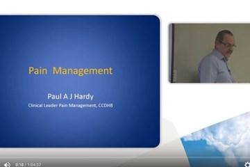 Pain management - video series for clinicians