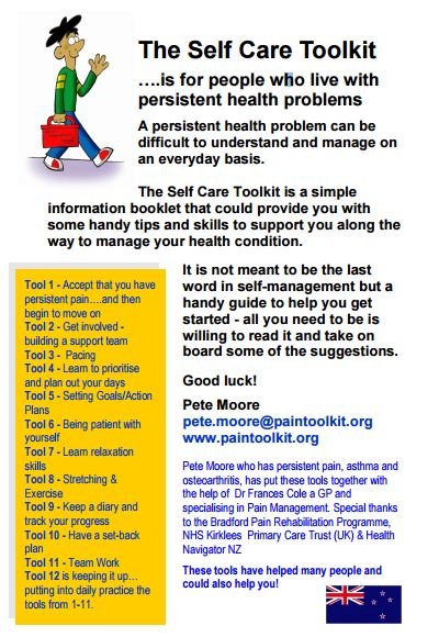 The self care toolkit for people who live with persistent health problems