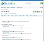 Medline Plus Easy to read topics