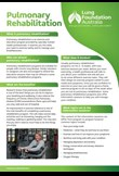 Pulmonary rehabilitation – factsheet