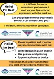 Deaf and hard of hearing communication cards
