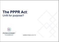 The PPPR Act