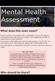 Mental health assessment guide