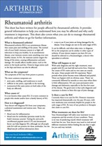 Rheumatoid arthritis fact sheet