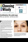 Antibiotics for pink eye