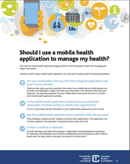 Should I use a mobile health application to manage my health?
