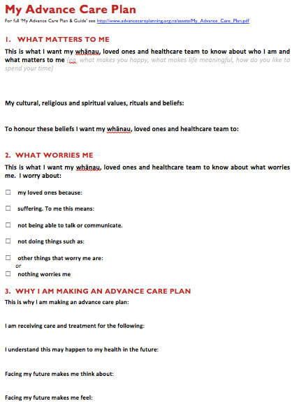 Advance care planning | Health Navigator NZ