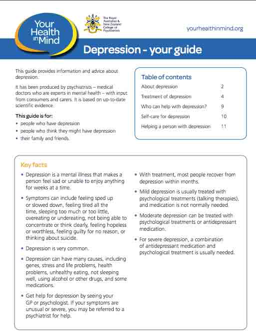 Depression – Your guide