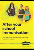 After your school immunisation