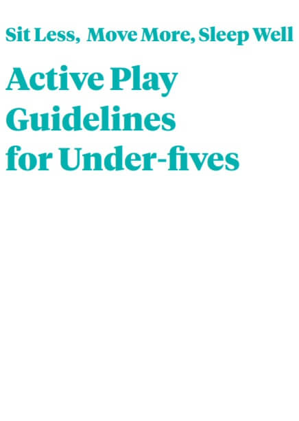 Sit less, move more, sleep well. Active play guidelines for under-fives
