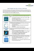 Factsheet: Summary of Health Apps