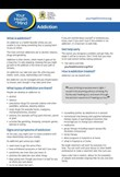 Addiction factsheet