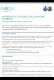 Antibiotics: coughs, colds & sore throats