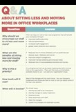 Q & A about sitting less & moving more for office workplaces