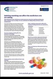 Quitting smoking can affect medicines you are taking