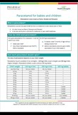 paracetamol factsheet- children