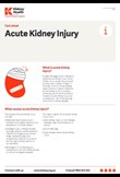 Acute kidney injury factsheet