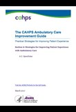 The CAHPS Ambulatory Care Improvement Guide - OpenNotes