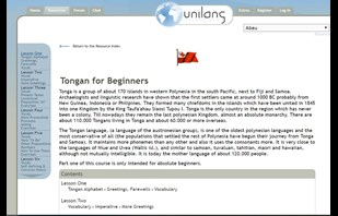 Learn Tongan site