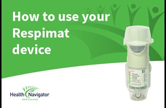 How to use a Respimat inhaler