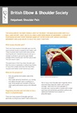 Shoulder pain helpsheet
