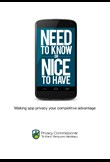 Need to know or nice to have - making app privacy your competitive advantage