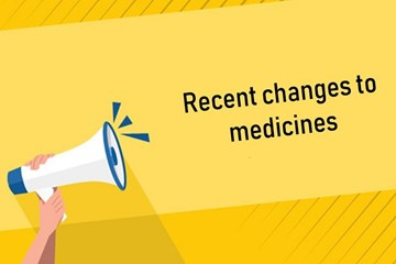 Recent changes to funded medicines