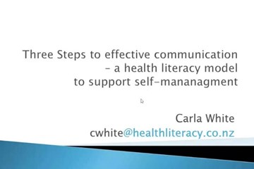 Three steps to effective communication to support self-management