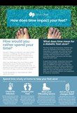 How does time impact your feet?