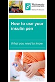 How to use your insulin pen